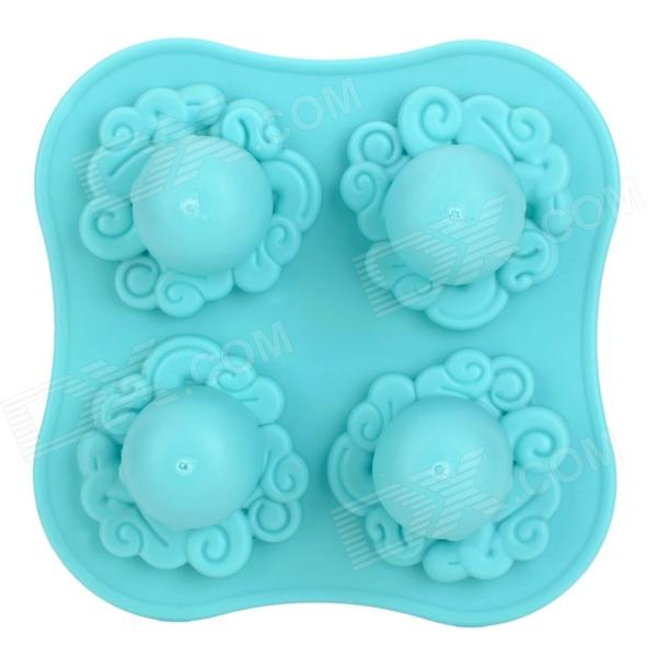 L.H.S TM13023 Cute Octopus Shaped Soft Ice Cube Tray / Jelly / Pudding Mould - Blue