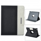 ENKAY ENK-3138 Jean Style PU Leather Case for Ipad 2 / 4 / the New Ipad - Black + White