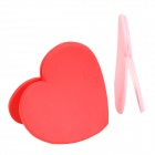 Creative Heart Shape Style Soft Plastic Bookmarks - Red + Pink (2 PCS)