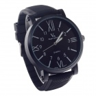 SuperSpeed V0182 Fashionable Stainless Steel Men's Quartz Wrist Watch - Black + White (1 x LR626)