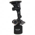 "F8000LS 2.0"" TFT 5.0 MP Car DVR Camcorder w/ 4X Digital Zoom + 8-IR LED Night Vision - Black"
