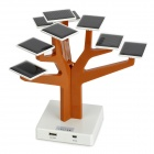 Tree Style USB Solar Panel Power Battery Charger for iPhone + Samsung + More - Orange + White