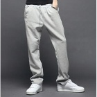 Men's Leisure Casual Cotton Pants Trousers - Grey (Size XL)