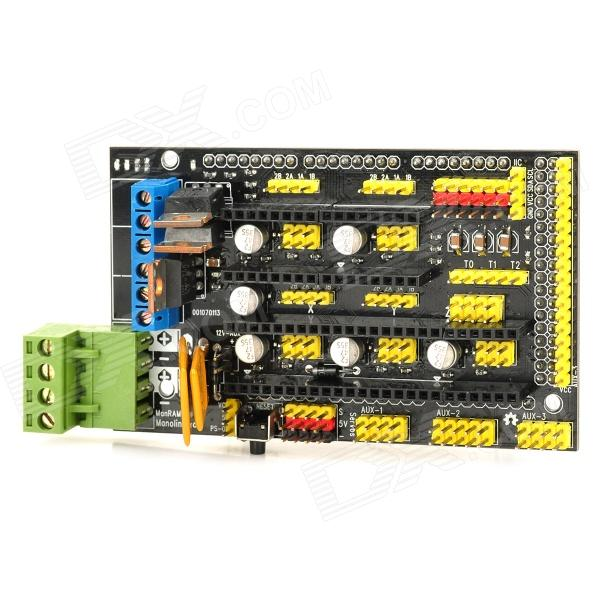 Manolins RAMPS 1.4 3D Printer Controller Board Compatible with Arduino Reprap MendelPrusa mei wan and cherry universal hood board computer board control panel compatible with all brands of range hoods all