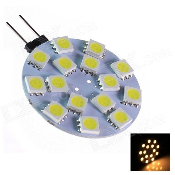 GCD 209 G4 4W 150lm 15-SMD 5050 LED White Light Car Lamp (12V)Other Car LED Bulbs<br>Brand GCD Model 209 Quantity 1 piece(s) Casing Color Yellow+White Material PCB Emitter Type 5050 SMD LED Chip Type NICHIA Total Emitters 15 Light Color White Rated Voltage 12V Power 4 W Luminous Flux 150 lm Color Temperature 6500 K Wavelength No nm Connector Type G4 Application Decoration light Other Features Anti-seismic Certification CE Packing List 1 x G4 LED car Light<br>