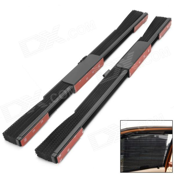 Car ABS + Mesh Folding Window Shades - Black (2 PCS) - DXOther Interior<br>Brand N/A Quantity 2 piece(s) Material ABS + mesh Color Black Function Isolated the sunlight and heat Other Features Folding design easy installation Packing List 2 x Car window shades<br>