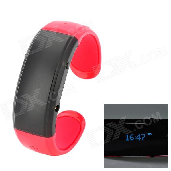 Novel Bluetooth Bracelet w/ Answer Call + Vibration Function + Digital Time - Red + Black