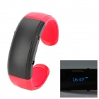 Novel Bluetooth Armband w / Answer Call + Vibration Funktion + Digital Time - rot + schwarz