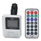 "1.3"" LCD Car FM Transmitter / MP3 Player w/ SD / TF Card Slot / USB + Remote Control - Silver"