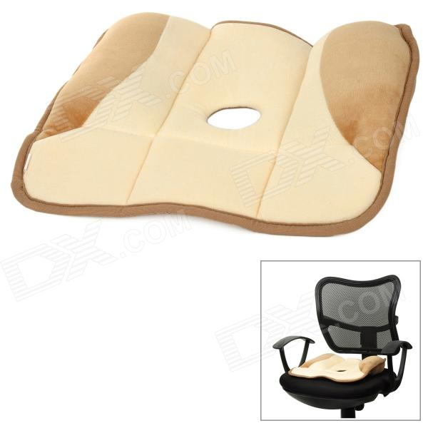 купить Reshaping Hip Massage Coral Fleece Cushion - Naples Yellow + Light Brown дешево