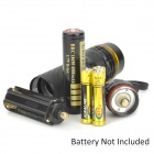 COFLY KX-F398 210lm 3-Mode White Zooming Flashlight w/ Cree XR-E Q5 - Black + Yellow (1x18650)