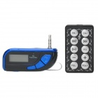 A10 Universal Car MP3 FM Transmitter w/ 3.5mm Audio Plug for Iphone / Samsung - Blue + Black