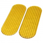 Coche reflectantes de advertencia Marcar pegatinas epoxi - Amarillo (2 PCS)