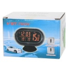 "Multi-Functional Car 2.5"" LCD Clock / Thermometer / Battery Voltmeter - Black + Blue"