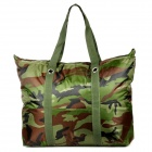 Outdoor Travel Water Resistant Canvas Fabric Shoulder Bag - Camouflage