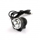 NITEFIRE NFC-35 3 x Cree XM-L T6 970lm 3-Mode White Bicycle Light - Black (4 x 18650)