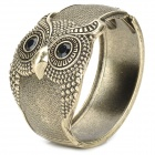 eQute BSSW110T2C99 Retro Owl Style Bracelet - Black + Antique Golden