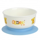 XBW-01 Baby PP Suction Cup Bowl - White + Yellow + Light Blue