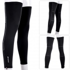 NUCKILY F005 Sun Protection Bike Cycling Leg Sleeve - Black (Size XL / Pair)