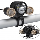SingFire SF-801 1800lm 4 Modes Bike Light w/ CREE XM-L T6 + 2 x XP-E R2 - Black (4 x 18650)