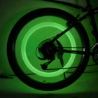 Letdooo VIB-3 2-LED 2-Mode Luz verde Roda de bicicleta Light - branco translúcido (1 x CR2032)