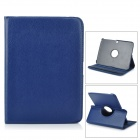 Lychee Pattern 360 Degree Rotation PU Leather Case for Samsung Galaxy Tab 3 10.1 P5200 - Dark Blue