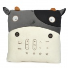 Cute Cow Pillow Style Multi-Functional Remote Controller - Black + White (2 x AA)