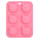 SP0010 Cute Piggy Face Style Pudding / Bread / Cake Baking Mould - Pink