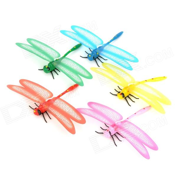 Senior Simulation Luminous Coloured Dragonfly Decoration Toy - Multicolored (5 PCS)