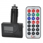 "1.0"" LCD Car Cigarette Lighter Powered FM Transmitter + MP3 Player w/ Remote Controller - Black"