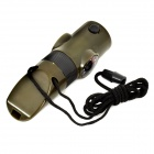 7-in-1 Multifunction Outdoor Emergency Whistle w/ Compass / LED Flashlight / Thermometer - Arm Green