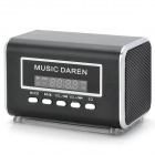 ZSR003 Portable Mini Speaker w/ FM Radio / TF Slot - Black + Silver