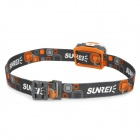 Sunree Youdo2 122lm Neutral White 7-Mode farol w / Cree XR-E R3 - Branco + Cinza + Orange (3 x AAA)