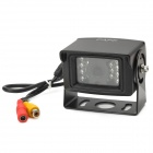 CAPF SJ-780 Waterproof Vehicle Car Rearview Video Camera w/ 14-IR LED - Black (DC 24V/PAL)