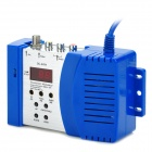 GC-AV04 Household Wired TV modulador AV-RF Converter - azul + prata
