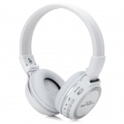ZL-800 Wireless Sports Hi-Fi MP3 Headphones w/ Microphone / FM Radio - White + Silver