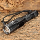 Assassin YZU01 Cree XM-L T6 480lm White 5-Mode Zooming Flashlight - Black (1 x 18650 / 3 x AAA)
