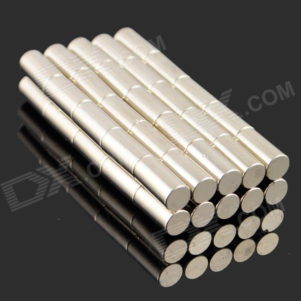 5*10mm NdFeB Neodymium Magnet Cylinder DIY Puzzle Set - Silver (50PCS)Magnets Gadgets<br>ModelNQuantity50MaterialNdFeBPacking List50 x Magnets<br>