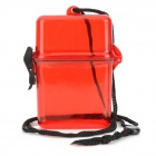 Outdoor Sealed Water Resistant Case - Black + Translucent Red