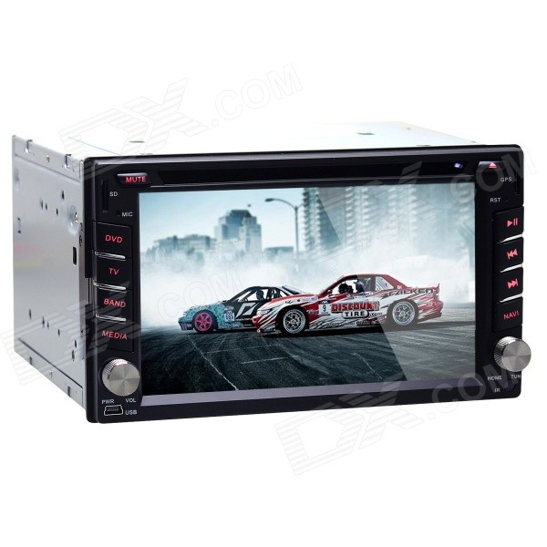 "Joyous 6.2"" Touch Screen Car DVD Player w/ GPS, AUX for Nissan - Black"
