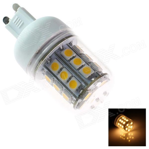 TZY Q6 G9 5W 330lm 3500K 30-SMD 5050 LED Warm White Light Lamp Bulb - White (220-240V)