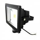 Waterproof PIR Detective Sensor indução 30W 2500lm 6500K LED Flood Light - Preto (85 ~ 260V)
