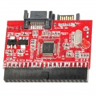 HDD / CD-ROM 40-Pin IDE to SATA or SATA to 40-Pin IDE Bidirectional Adapter Card - Red + Black