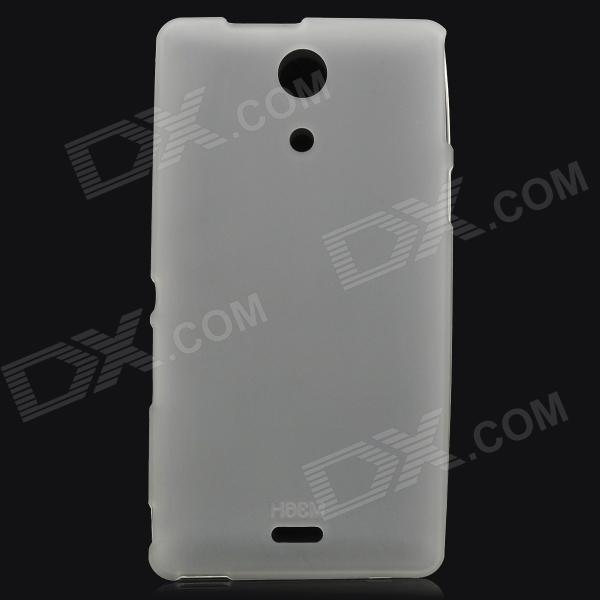 Protective Matte PVC Back Case for Sony Xperia ZR M36h / C5502 - Translucent White portable us plug battery charger w female usb output for sony xperia zr m36h c5502 ba950