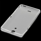 Protective Matte PVC Back Case for Sony Xperia ZR M36h / C5502 - Translucent White
