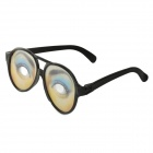 Magic Trick Funny Eyes Glasses - Black