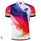 RUSUOO R10002 Short Sleeve Cooldry Fabric Cycling Jersey - Multicolor (Size L)