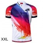 RUSUOO R10002 Short Sleeve Cooldry Fabric Cycling Jersey - Multicolor (Size XXL)