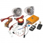 D998 da motocicleta dispositivos anti-roubo alarme w / Speakers Dual / TF / USB - Translucent + Ouro