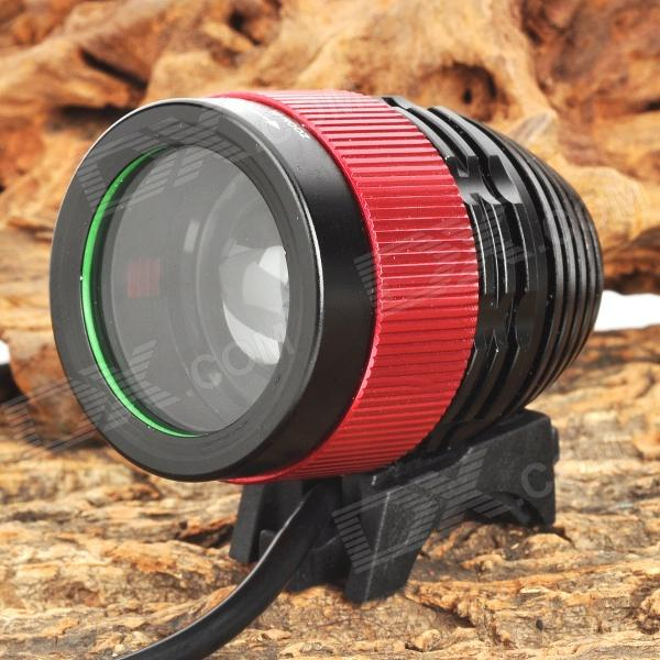 SL-8004 1040lm 4-Mode White Zooming Bicycle Light w/ Cree XM-L U2 - Black + Red (4 x 18650) sl 8001 900lm 4 mode white bicycle light